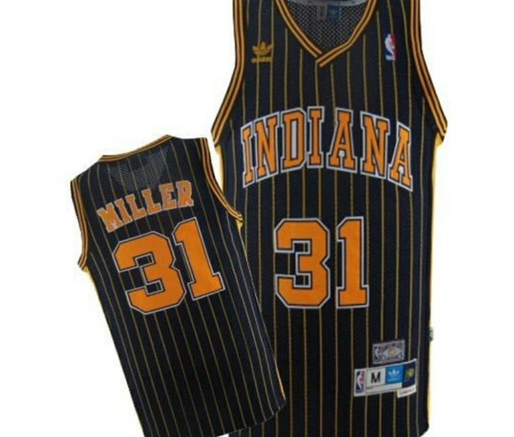 5fa2e0345 Reggie Miller Indiana Pacers  31 Throwback Jersey